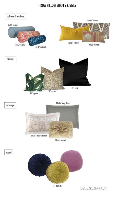 pillow sizes for sofa throw pillow sizes search