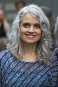 with gray hair celebrating women with long grey hair