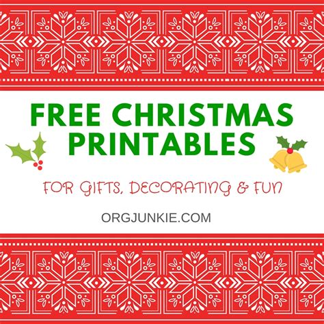 free christmas printables for gifts decorating and fun