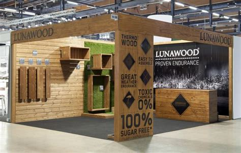 wood design booth lunawood trade show booth by bond exhibition design