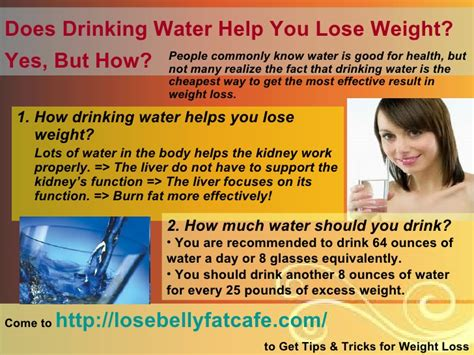 how to help lose weight does water help you lose weight yes but how