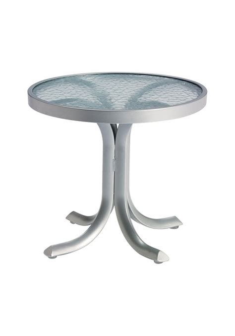 20 round tea table obscure glass dinette amp patio