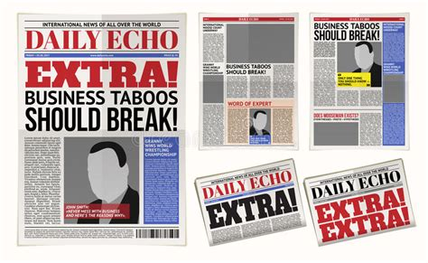 layout tabloid download vector daily newspaper template tabloid layout posting