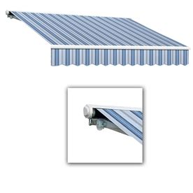 lowes retractable awnings shop awntech 144 in wide x 122 in projection blue gray