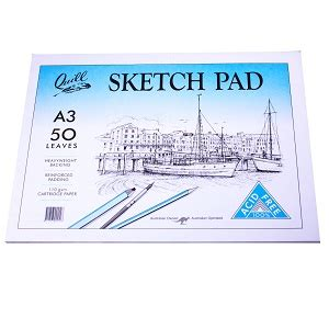quill a4 sketchbook quill sketch pad a3 50leaf coast to coast school