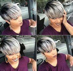 weave with grey highlights 50 short hairstyles for black women bobs grey and