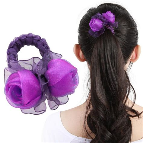 natural hairstyle w jewels rubber band for holidays best cloth hair band new korean silk rose flower head