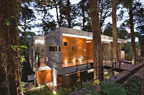 modern tree house design modern tree house with wood architecture in guatemala home design and interior