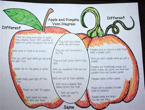 apple diagram classroom freebies apple pumpkin venn diagram
