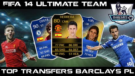 2014 2015 barclays premier league teams fifa 14 ultimate team top barclays premier league