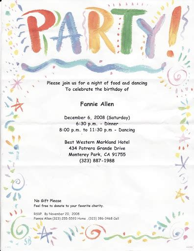 Exle Of Invitation Letter In Birthday Formal Decline Of Invitation Letter Invitations Ideas