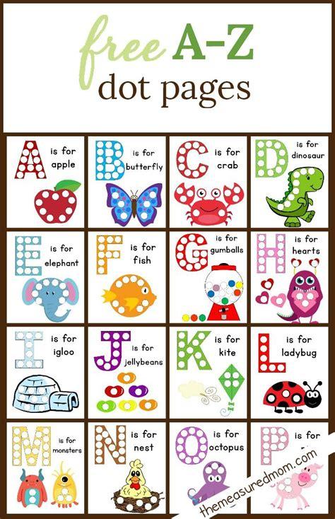 printable kindergarten alphabet games dot sticker pages alphabet worksheets worksheets and