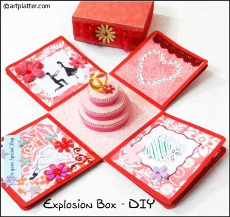explosion box diy tutorial how to make an explosion box art platter