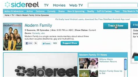 tv shows find your favorites online why sign up for sidereel find track watch your fav tv
