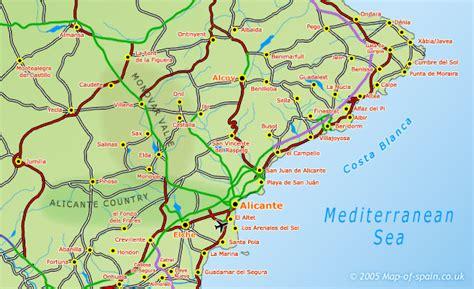 map   costa blanca map
