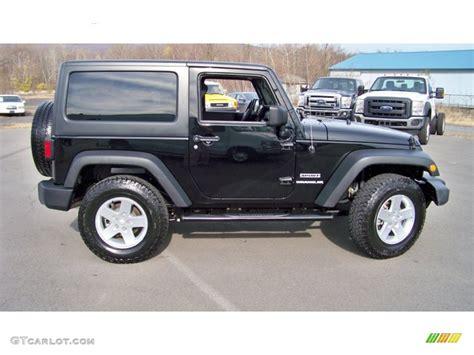 2012 Black Jeep Wrangler Black 2012 Jeep Wrangler Sport S 4x4 Exterior Photo