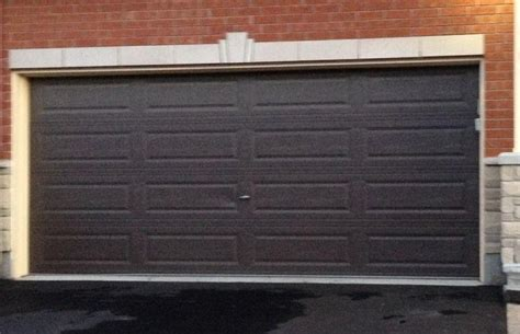 16x7 non insulated brown garage door obo kanata