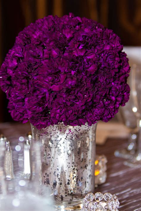 purple and gray wedding centerpieces help me choose tablecloth for mercury glass