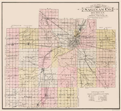 map of saginaw county michigan misa0004 a jpg