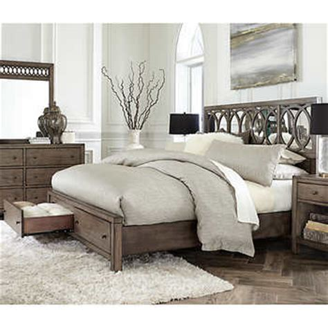 Bedroom Sets With Mattress And Box Included by Beverly Mirrored King Bed