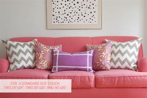 Pillow Sizes For Sofa Pillow Sizes Caitlin Wilson