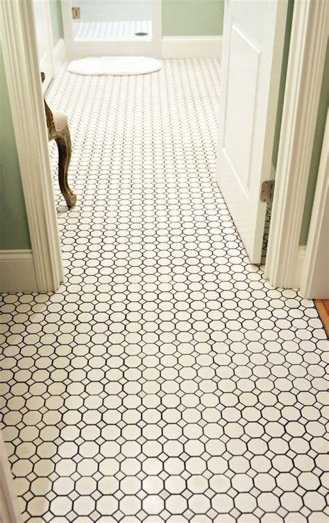 1 Inch White Bathroom Floor Tile - 27 black and white octagon bathroom tile ideas and pictures