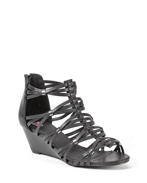 wide width strappy sandals wide width multri wedge sandals penningtons