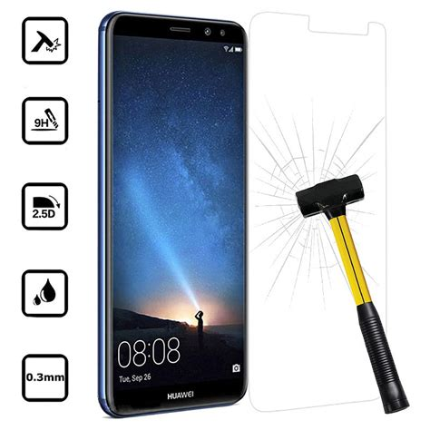 4d Tempered Glass Huawei Mate 10 Cover 9h Anti Gores Kaca huawei mate 10 lite tempered glass screen protector