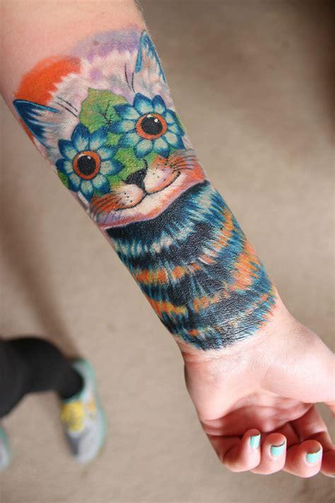 tattoo cat arm fantasy cat tattoo on arm tattooshunt com