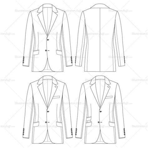 sports jacket template s slim fit jacket fashion flat template jackets