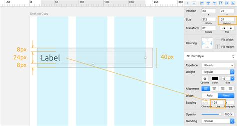 tutorial 8pt grids layout material design gui resizing table and list with sketch 45 1 2 design