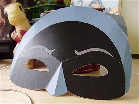 How To Make Paper Batman Mask - retro papercraft batman mask