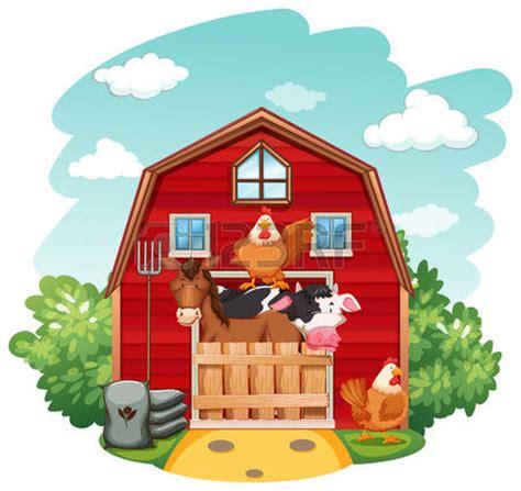 bauernhof scheune clipart farm animals clipart scenery pencil and in color farm