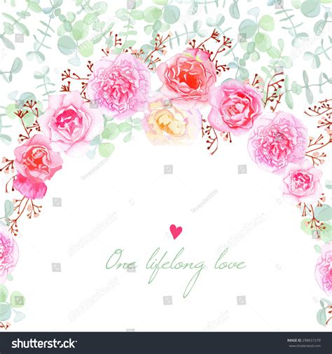 template for flower arrangement card wedding flowers vector card invitation template stock