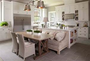 Kitchen Table With Bench Seat Traditional Kitchen With Bench Seating