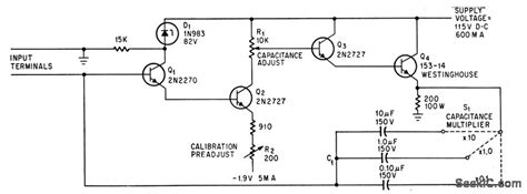 electronic variable capacitor circuit electronic capacitor power supply circuit circuit diagram seekic