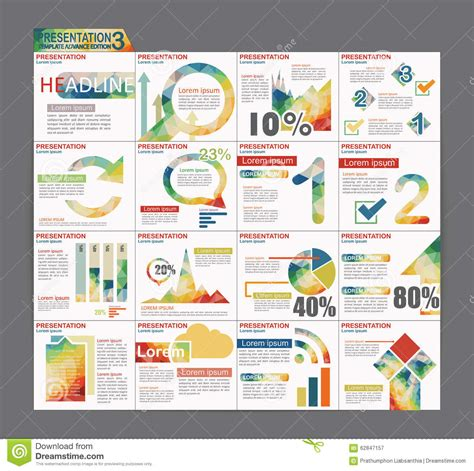 colorful infographic presentation template brochure flyer