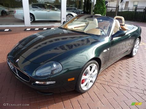 maserati green 2004 verde goodwood metallic green maserati spyder