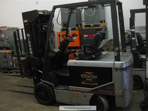 2007 nissan 60 electric forklift mast 252 quot max