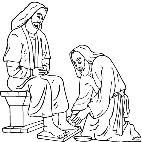 easter jesus colouring pages