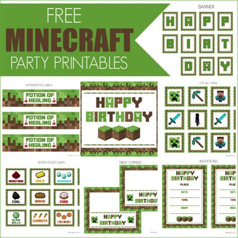 printable happy birthday minecraft banner free minecraft printables catch my party