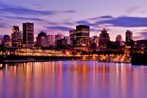 images of canada time skyline across the water in montreal