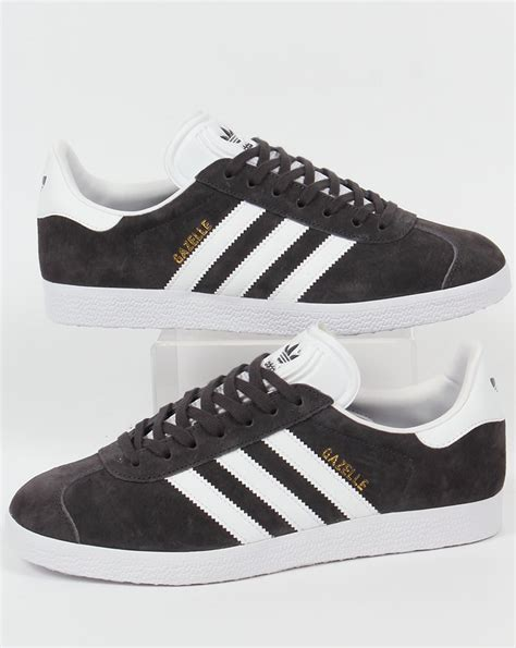 Adidas Grey adidas gazelle trainers grey white originals suede