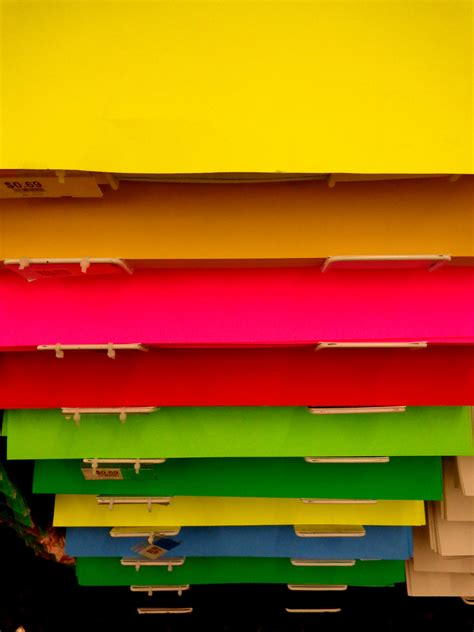 colored poster board colorful posterboard display in store photos domain