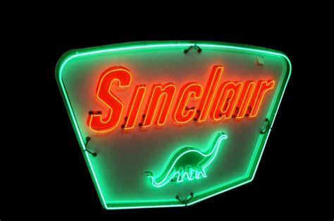 Late 1950's Sinclair Oil single sided porcelain animated