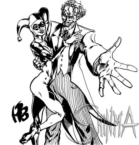 Harley Quinn And The Joker Coloring Pages