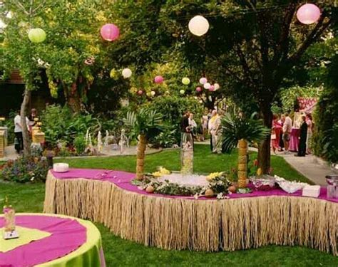 backyard luau fun backyard luau wedding decor beachy wedding ideas