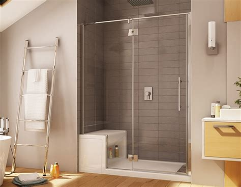 platinum shower for alcove installation with integrated