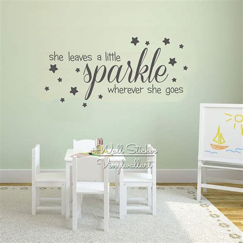 Baby Vinyl Wall Quotes sparkle quotes wall decal baby nursery quote