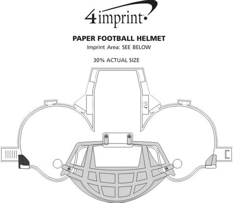 How To Make A Paper Football Helmet Step By Step - 4imprint paper football helmet 113610 imprinted with